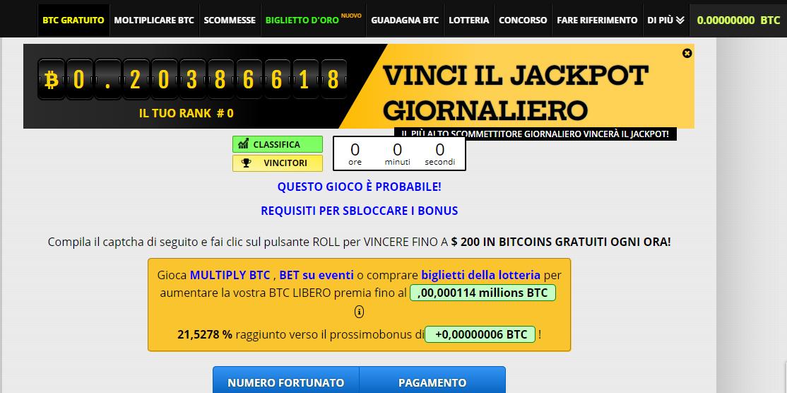 migliore della lotteria bitcoin